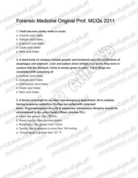 Forensic Prof. MCQ (1)
