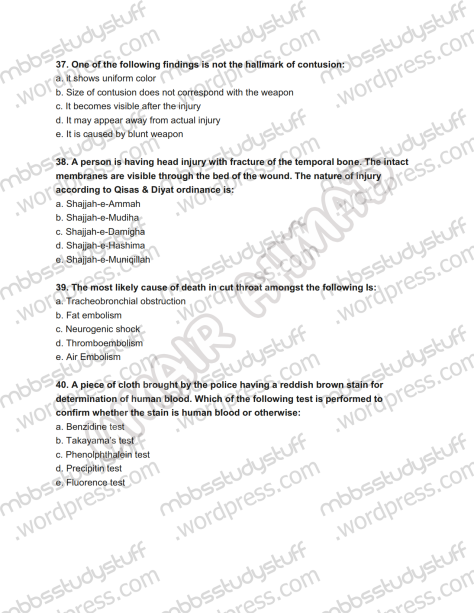 Forensic Prof. MCQ (10)