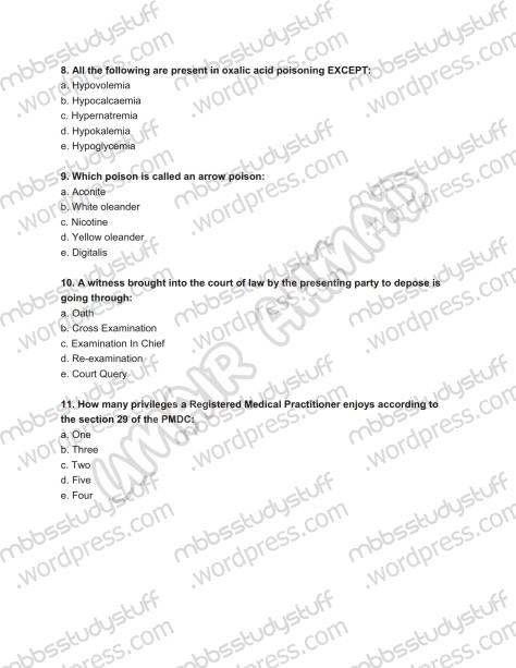 Forensic Prof. MCQ (3)