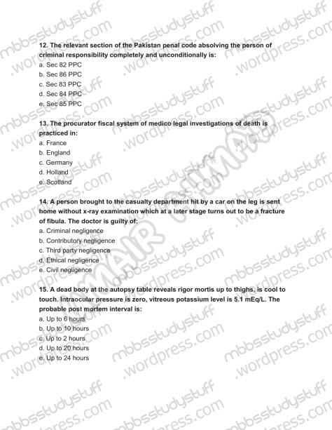Forensic Prof. MCQ (4)