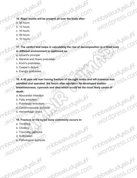 Forensic Prof. MCQ (5)