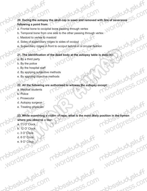 Forensic Prof. MCQ (6)