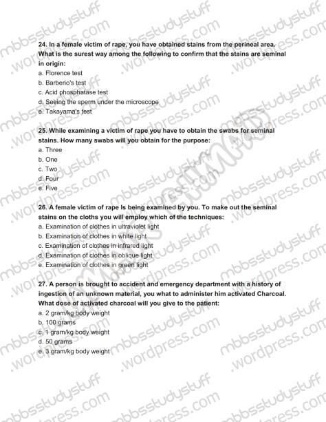 Forensic Prof. MCQ (7)