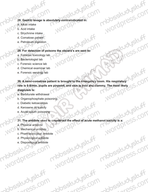 Forensic Prof. MCQ (8)