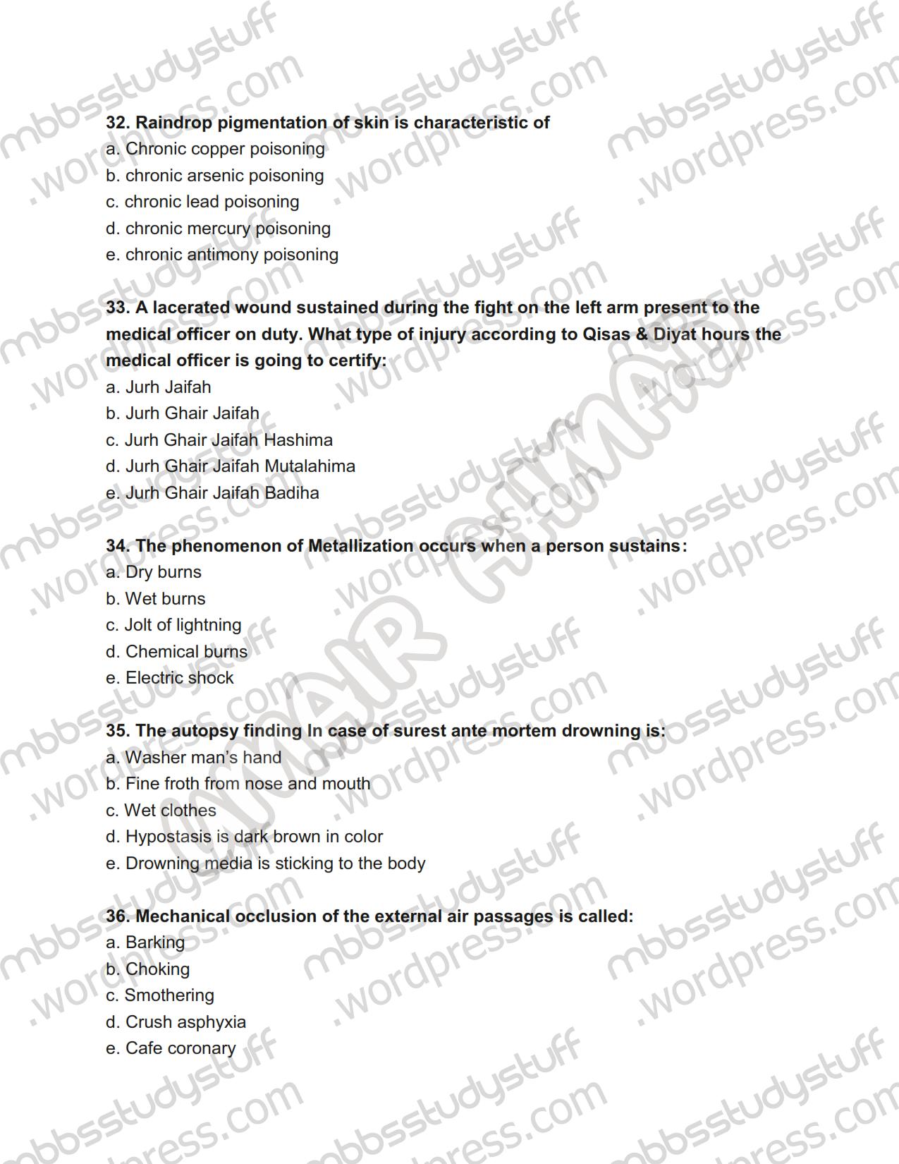 uhs forensic prof mcq | MBBS Study Stuff
