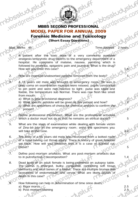 forensic toxicology research papers