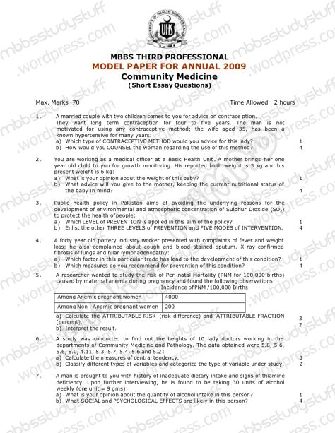 Community Medicine Model SEQ 2009 (1)