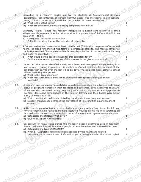 Community Medicine Model SEQ 2009 (2)