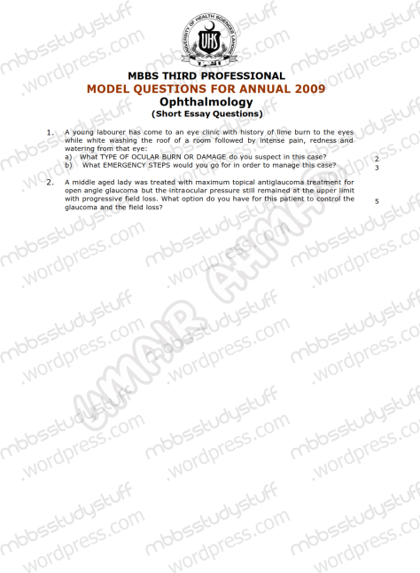 EYE Model SEQ 2009