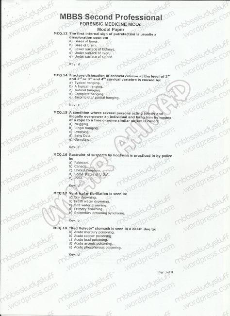 Forensic Model MCQ 2007 (3)