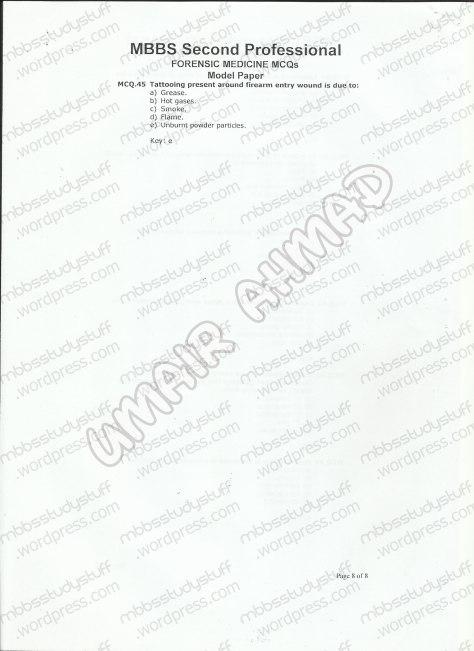Forensic Model MCQ 2007 (8)