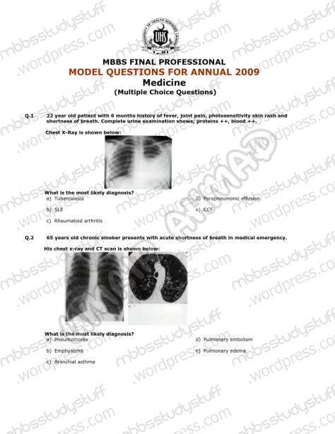 Medicine-I-Model-MCQ-2009-(1)