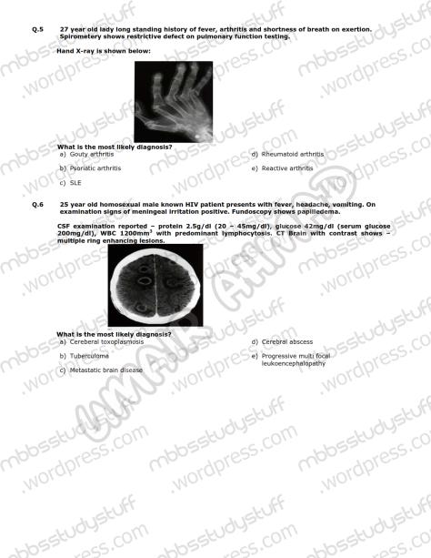 Medicine-II-Model-MCQ-2009-(3)