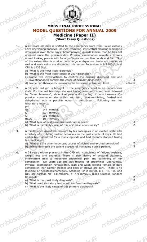 Medicine-II-Model-SEQ-2009-(1)