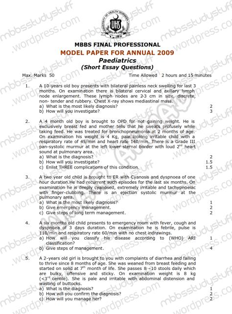 Paeds-Model-SEQ-2009-(1)