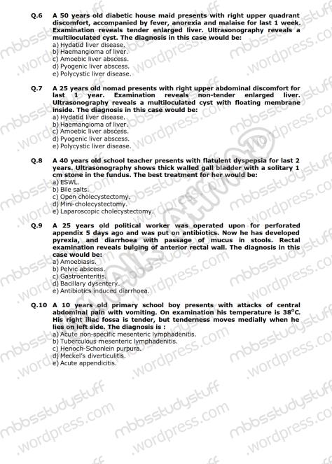 Surgery-II-Model-MCQ-2009-(2)