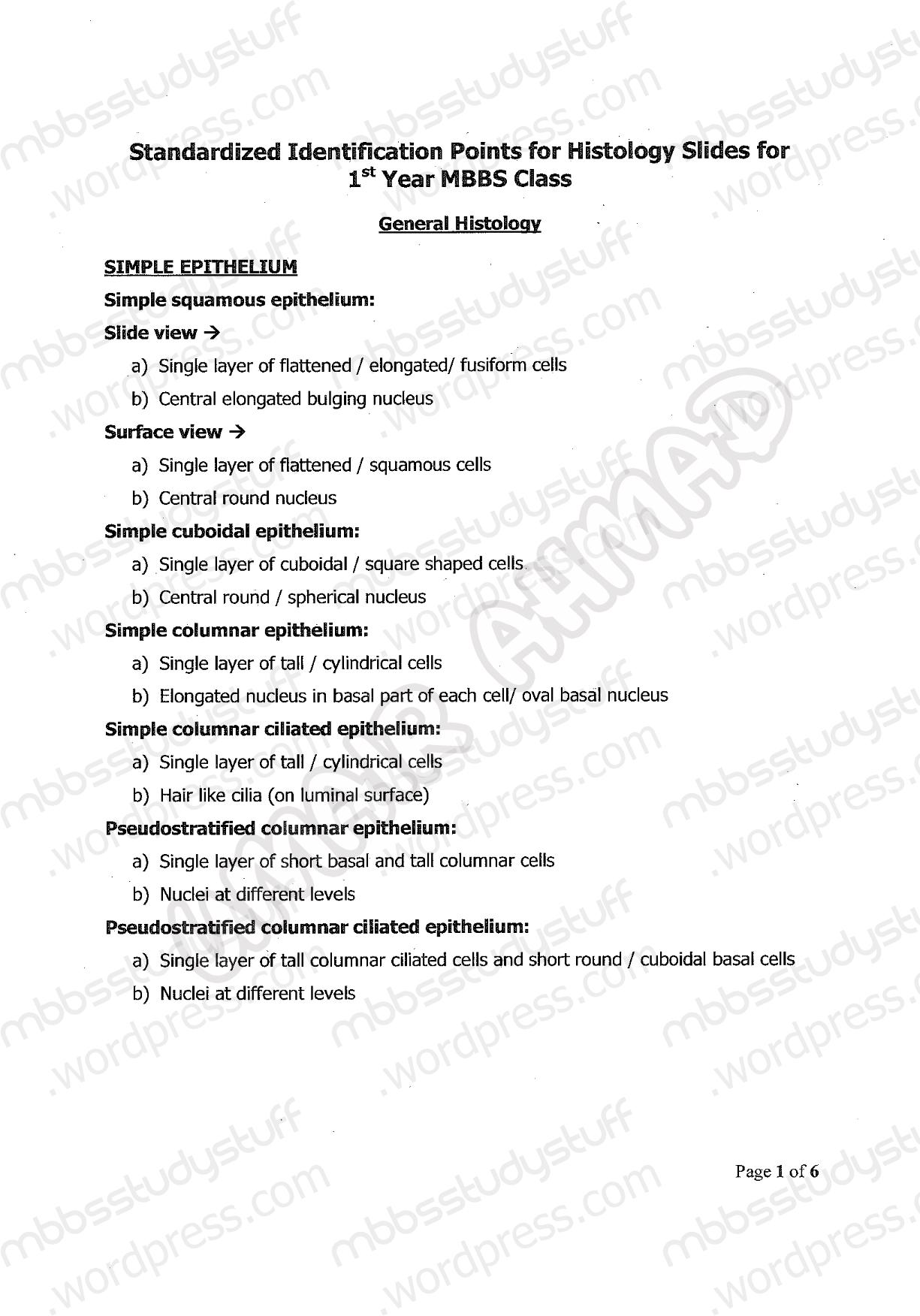 1st year anatomy ospe | MBBS Study Stuff