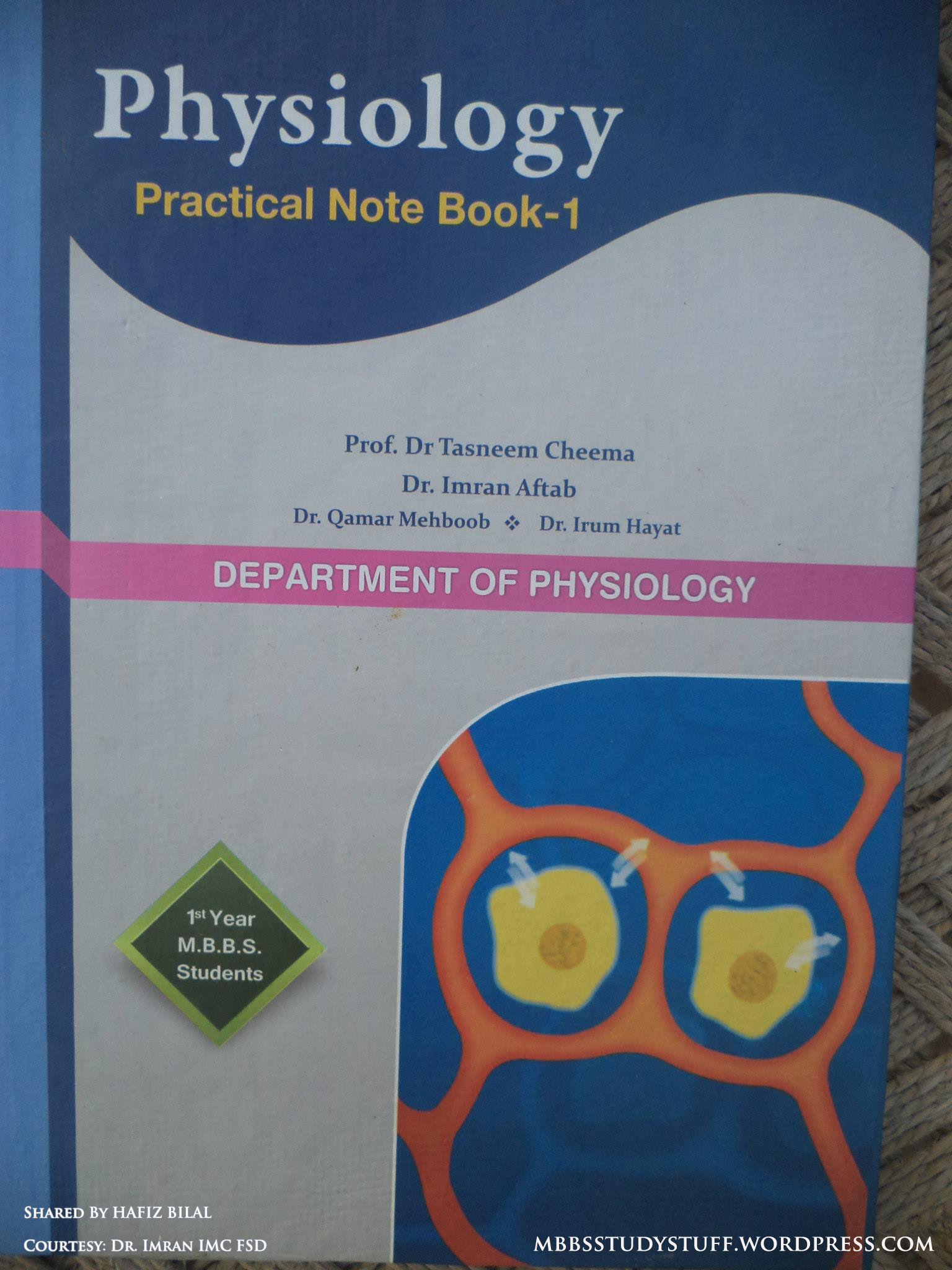 1st Year MBBS Physio Practical Note Book